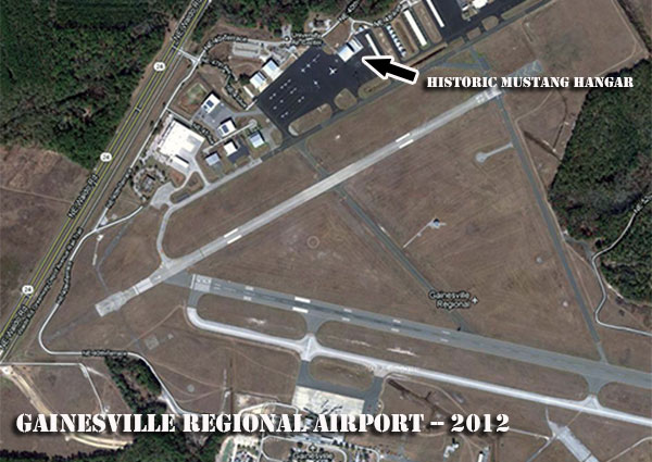 Gainesville airport aerial photo